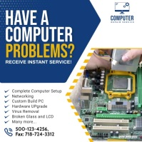 Computer Repair Ad Social Media Post Publicación de Instagram template