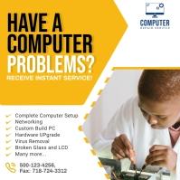 Computer Repair Ad Social Media Post