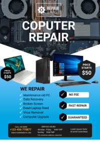 computer repair A4 template