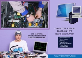 COMPUTER REPAIR FLYER DESIGN Postcard template