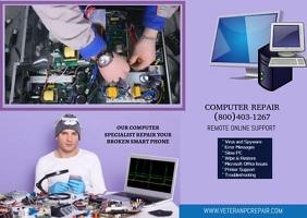 COMPUTER REPAIR FLYER DESIGN Postal template