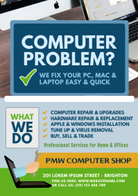 Computer Repair Flyer A4 template