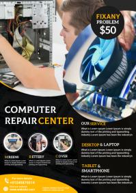 computer repair flyer A4 template