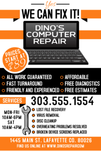 Computer Repair Flyer Templates | PosterMyWall