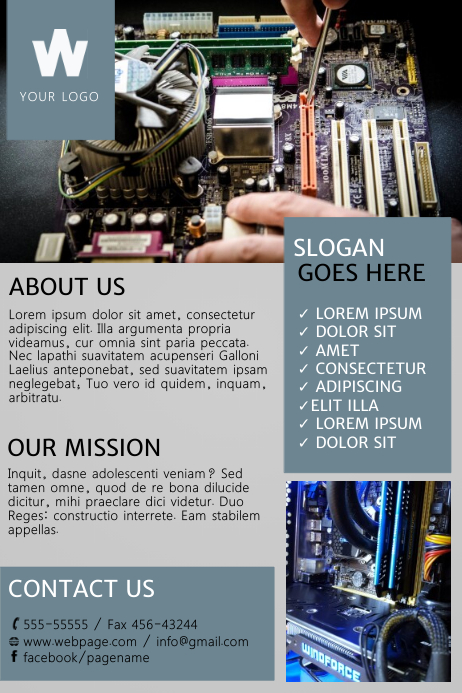 Computer Repair Flyer Template  Postermywall