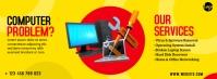 Computer Repair Service Ad Facebook-omslagfoto template