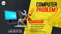 Computer Repair Service Ad Twitter Post template
