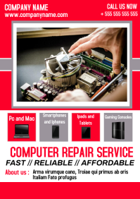 Computer Repair service advertisement a4