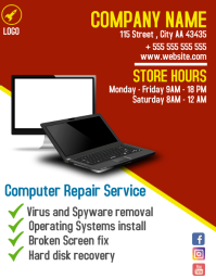 Computer Repair service flyer advertisement 2