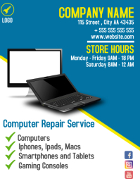 Computer Repair service flyer advertisement