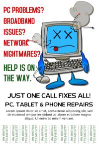 Computer Repair Service Flyer Template