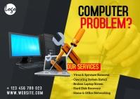 Computer Repair Service Postcard template