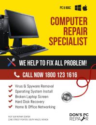 Computer Repair Service Specialist Flyer