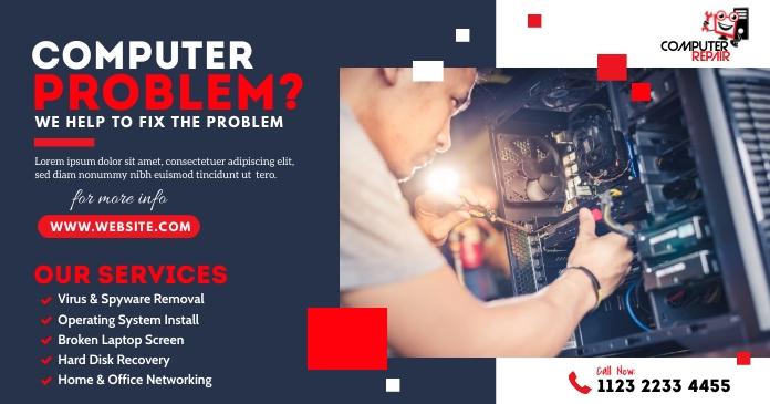 Computer Repair Services Image partagée Facebook template