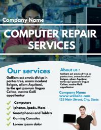 Computer Repair services flyer design templat