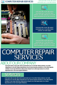 Computer Repair Services Poster template