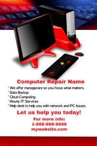 Computer Repair Shop Event Flyer