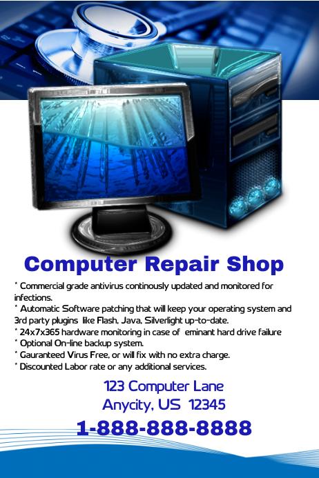 Computer Repair Shop Flyer