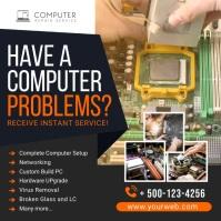 Computer Repair Social Media Post Banner Instagram-opslag template