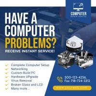 Computer Repair Social Media Post. template