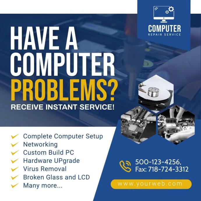 Computer Repair Social Media Post.