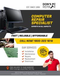 Computer Repair Specialist Flyer Poster Template