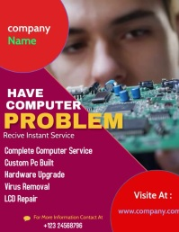 Computer Repair templet Flyer (US Letter) template