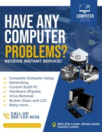 Computer Repair Video Template. Flyer (US Letter)