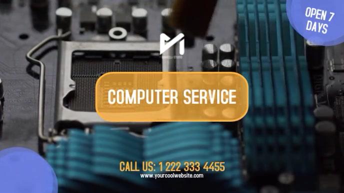 Computer Service & Repairs Digitale display (16:9) template