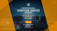 Computer Service & Repairs Video Ad Digital Display (16:9) template