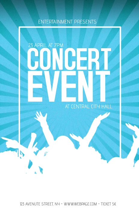 concert band event flyer template