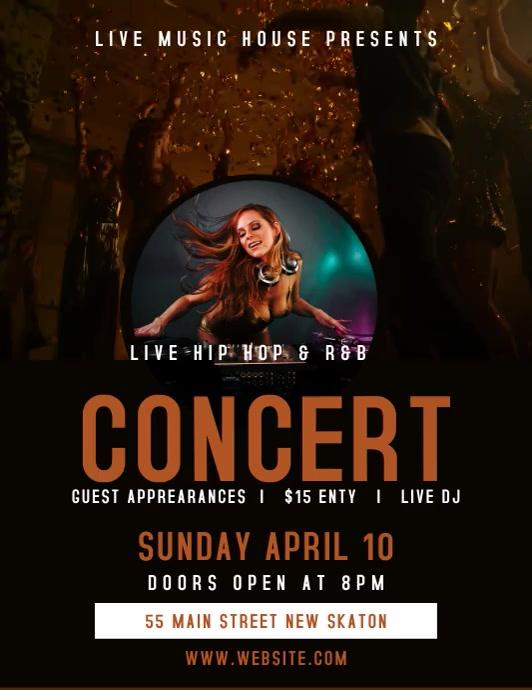 Concert /band Flyer template