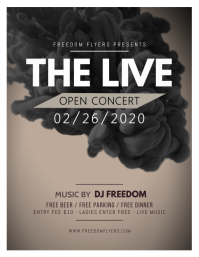 Concert/Band Flyer Template Design