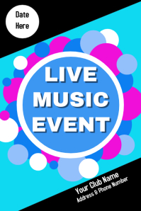 Concert Band Music Poster Flyer