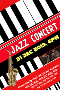 JAZZ CONCERT BAND EVENT TEMPLATE, FLYER, POSTER,