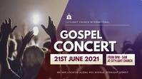 concert church flyer 数字显示屏 (16:9) template