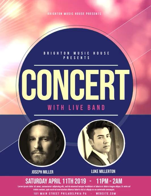 Concert Folder (US Letter) template