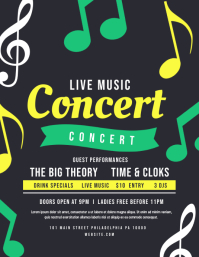 Concert Flyer (US Letter) template