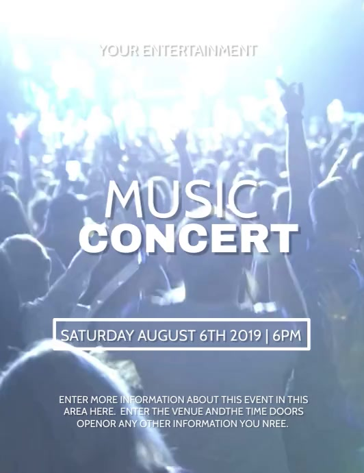 CONCERT Flyer (US-Letter) template