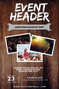 Concert Event Flyer Design Template