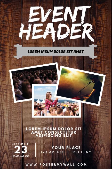 Concert Event Flyer Design Template 海报