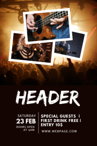 Concert Event Flyer Design Template