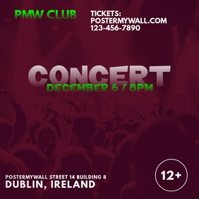 Concert Event Promotional Instagram Banner