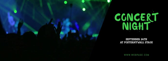 Concert Facebook Cover Template Video