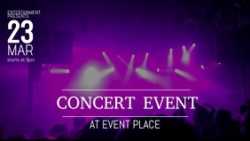Concert facebook video cover template