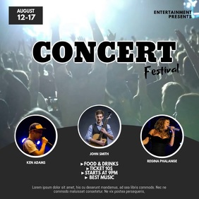 Concert Festival Video Ad Design Instagram