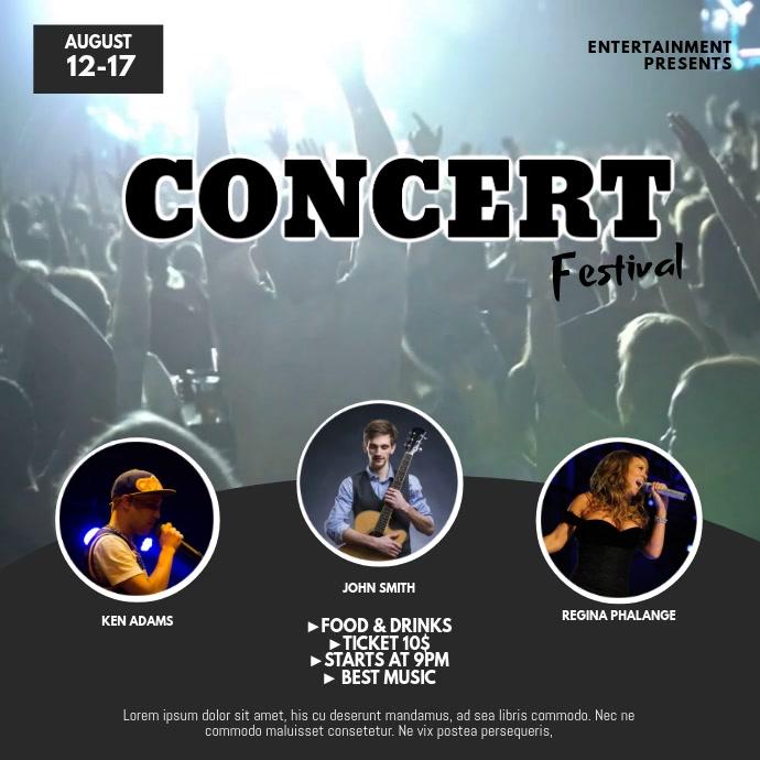 Concert Festival Video Ad Design Instagram