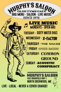 Concert Flyer, Old Time Music Poster