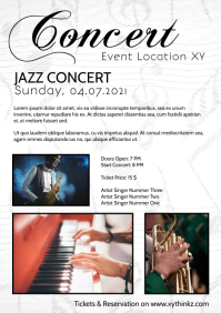 Concert Flyer Poster Invitation Event Music A4 template