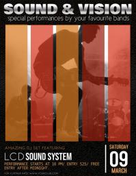 Concert Flyer Template, Band Night, Jazz, Concert
